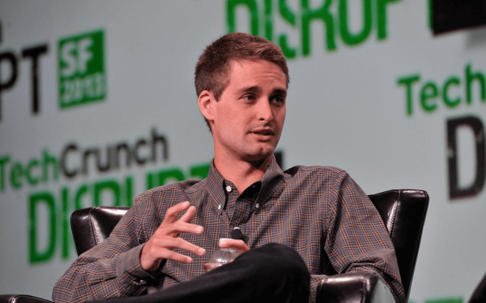 aandeel snapchat CEO Evan Spiegel