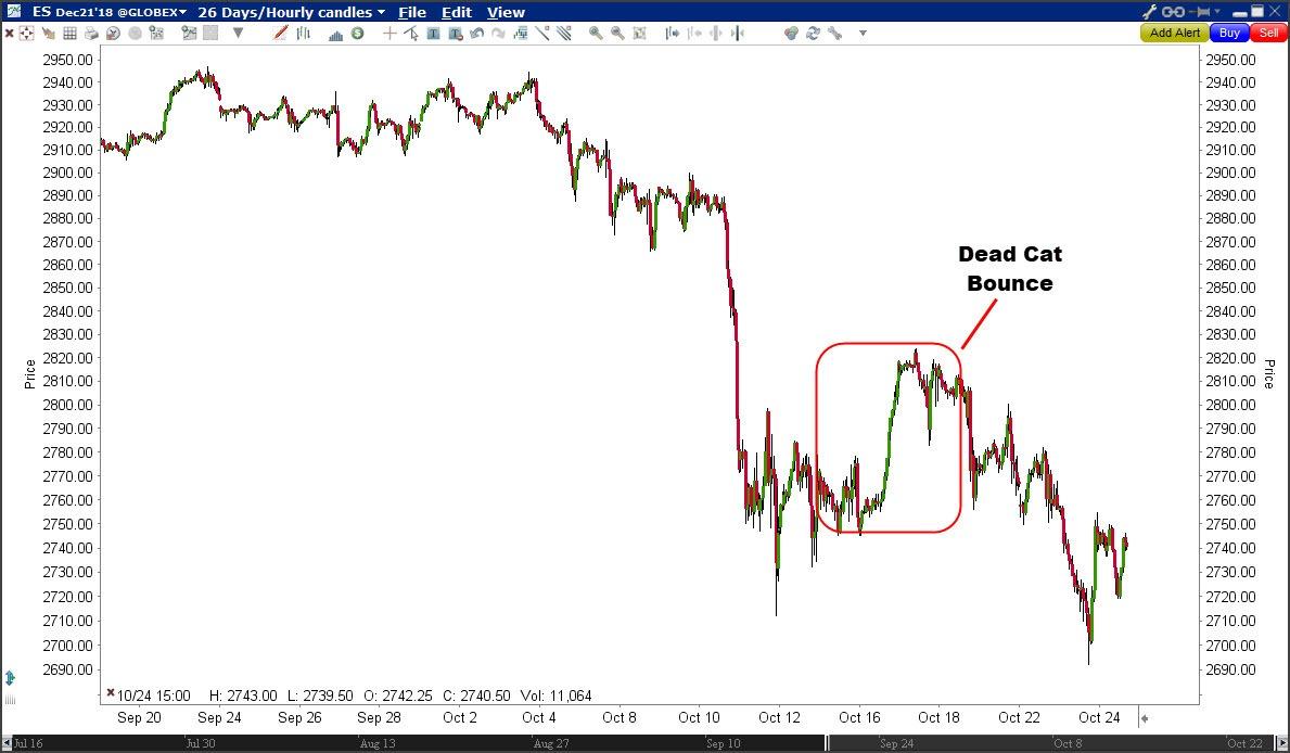 Dead cat Bounce voor S&P 500