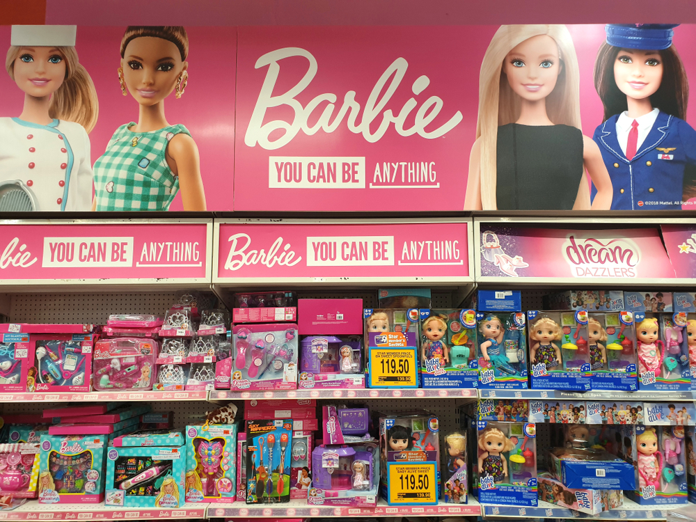 Aandeel Mattel koers Barbie