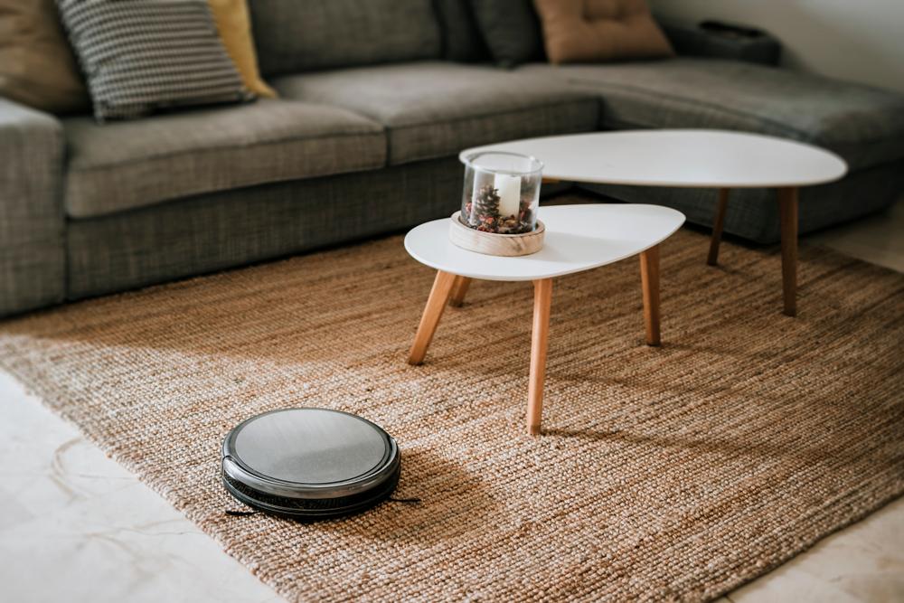 iRobot in een woonkamer - aandeel iRobot