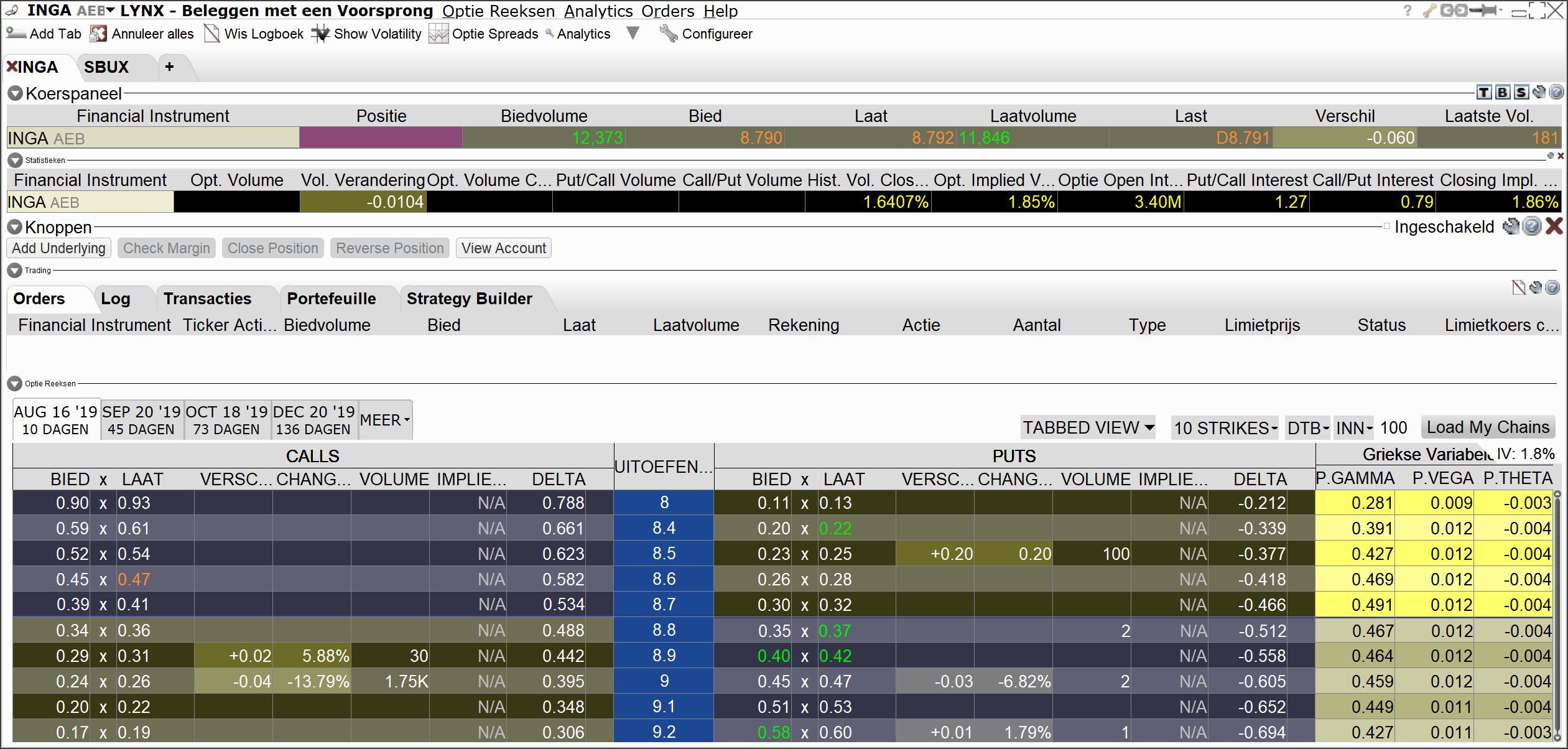 Handelsplatform - aandelenopties