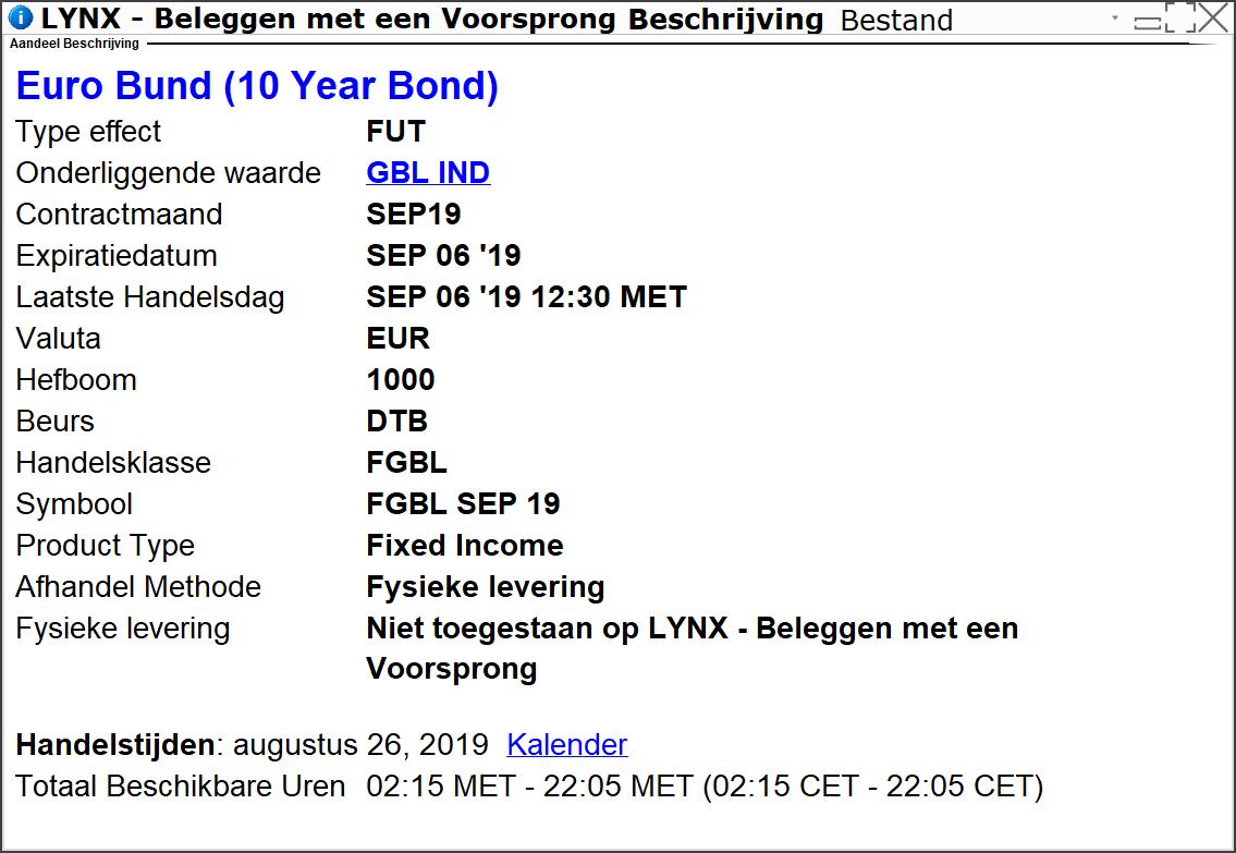 Euro Bund (10 Year Bond) - Beleggen in obligaties