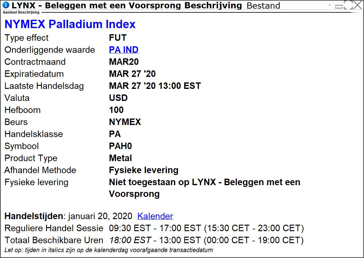 palladium prijsverwachting