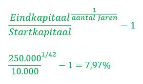 Compound annual growth rate - compound interest berekening - compound interest formule