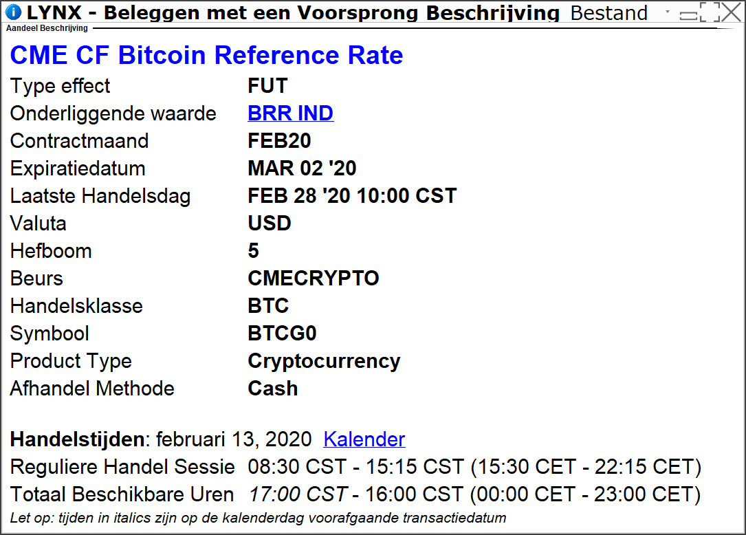 CME CF bitcoin Real Time Index (BRTI)