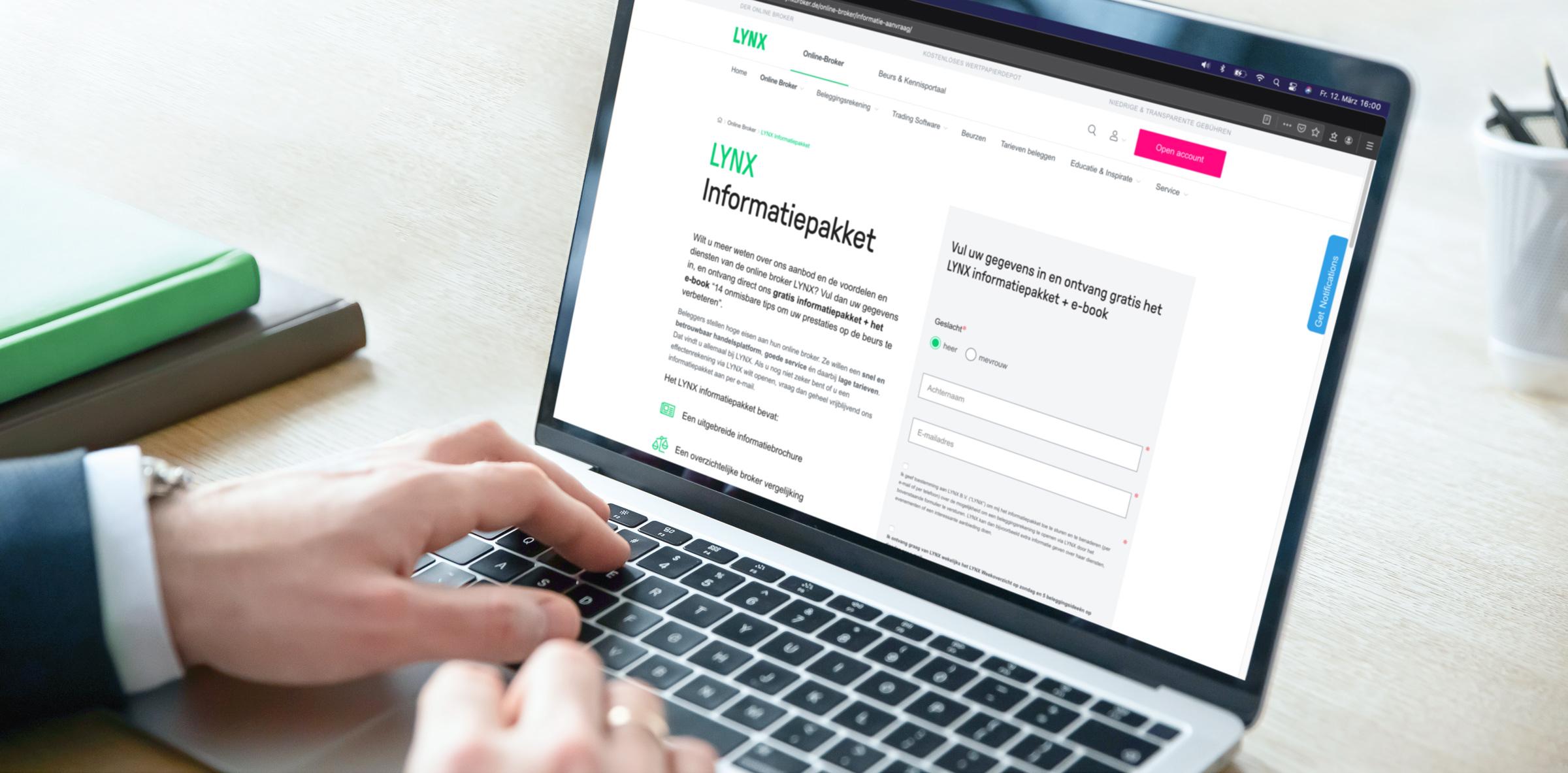 LYNX Informatiepakket - Start met beleggen via LYNX