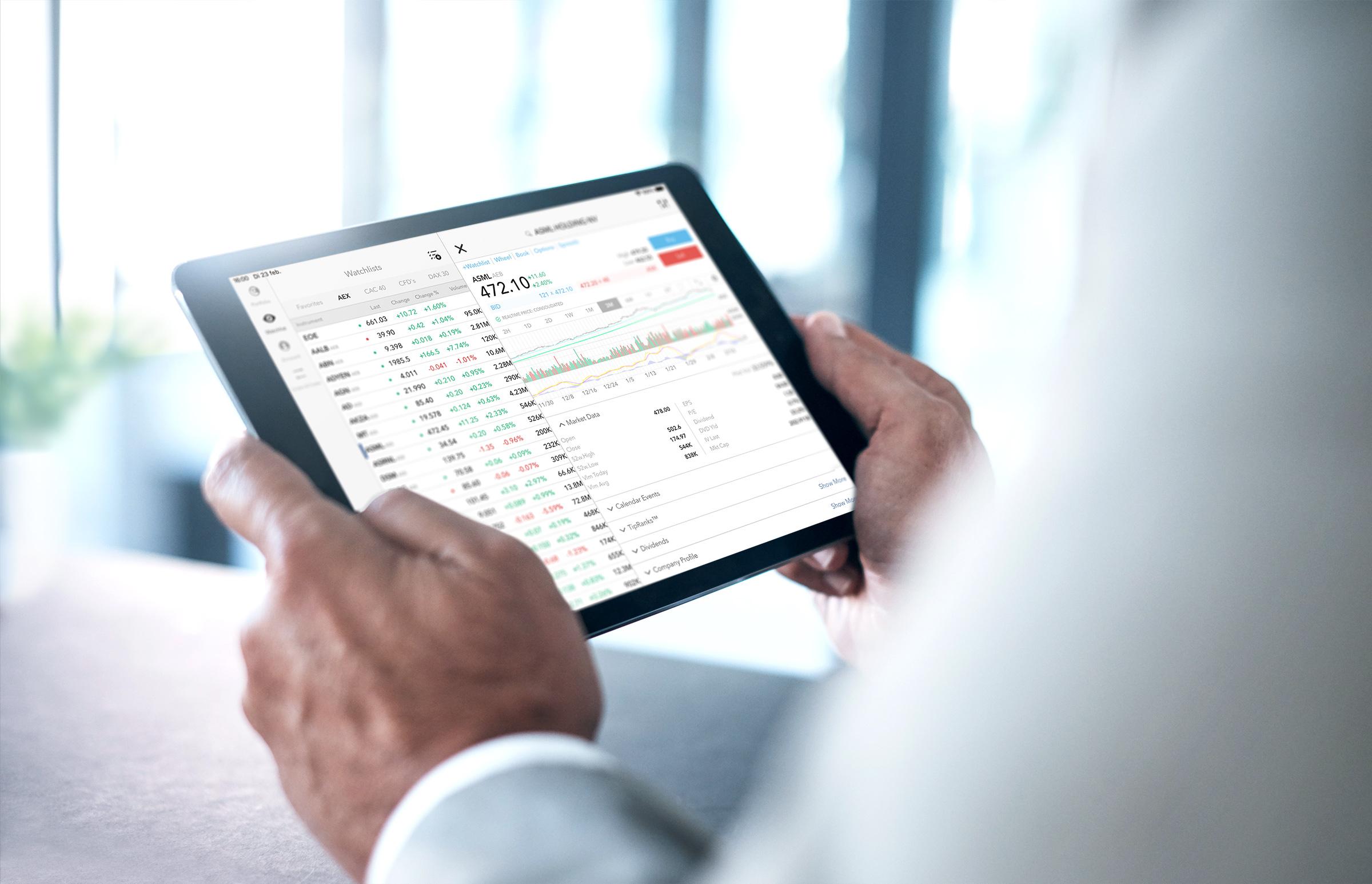 Short selling via de LYNX iPad Trading App