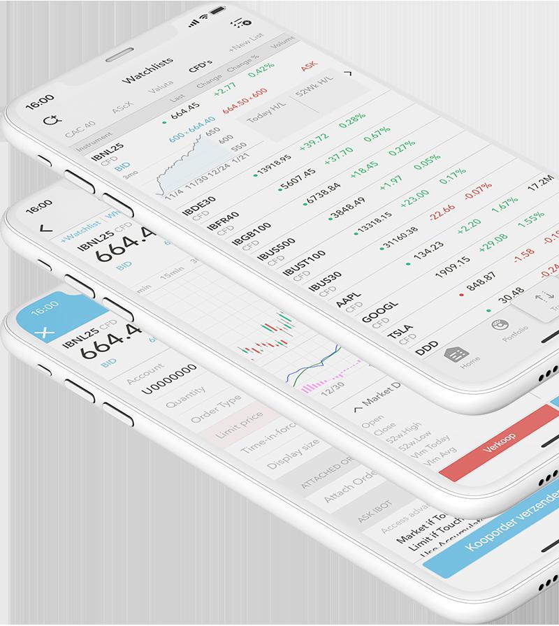CFD trading app - mobiel CFD beleggen