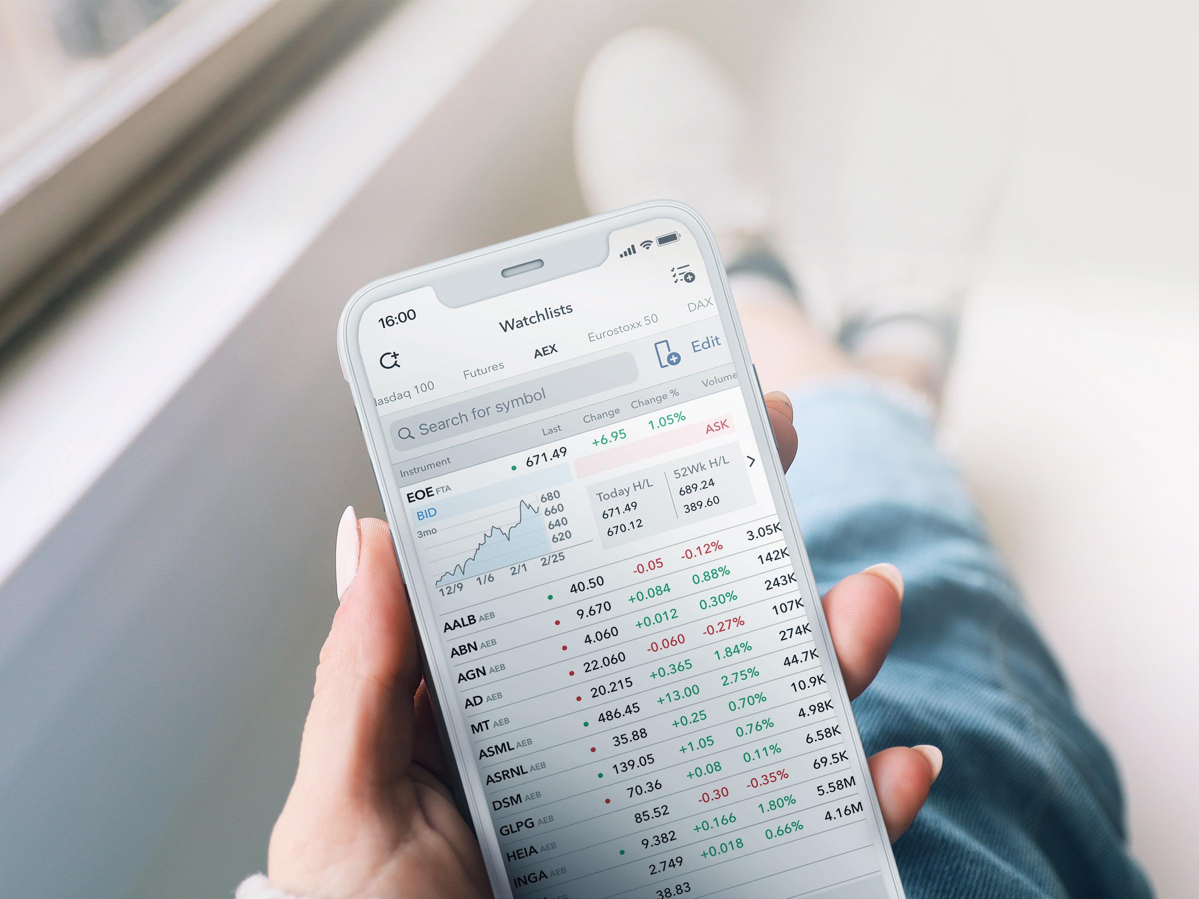 LYNX Trading Apps voor de iPhone